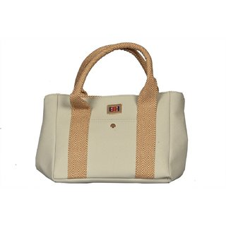 Women White New Fashionable Shoulder  Hand Bag