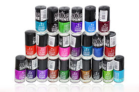 ADS Color Shine Nail Polish (24 pieces) With Liner Rubber Band - 144 ml