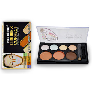 KISS BEAUTY CONTOUR  CORRECT CREAM PALETTE With Liner  Rubber Band-MTRT