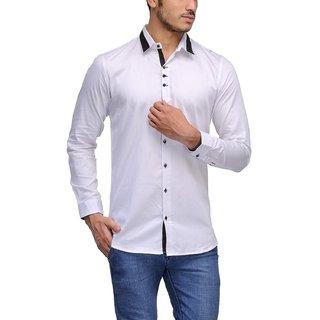 Aamnas White Designing Shirt