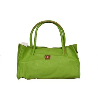 Women Light Green Fashionable With Perforated Design Hand Bag