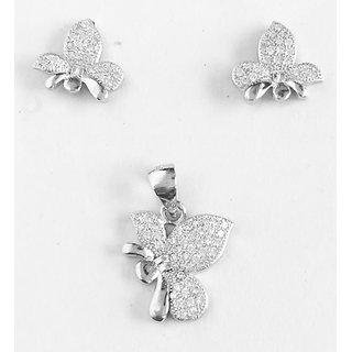 silver pendantearring for women colour  silver product code  FLV1012