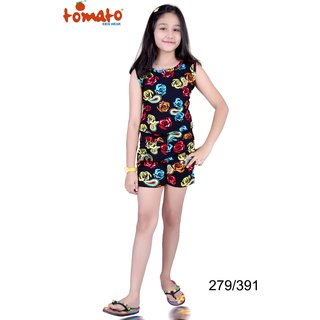 Tomato Multicolor Jumpsuit For Girls