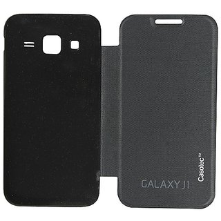 Casotec Premium Flip Case Cover For Samsung Galaxy J1 - Black gz267256
