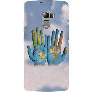 Casotec Black Background Hands Design Hard Back Case Cover For Lenovo K4 Note gz8115-14865