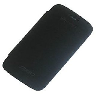 Casotec Premium Leather Flip Case Cover For Micromax Superfone Canvas 2 A110 - Black gz213173