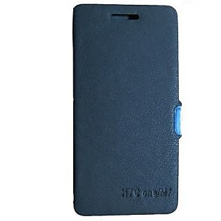 Casotec Premium Leather Flip Case Cover For Htc One 801E M7 - Black gz214307