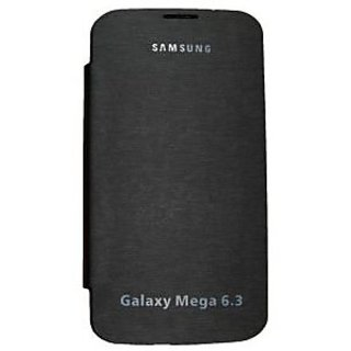 Casotec Premium Leather Flip Case Cover For Samsung Galaxy Mega 6.3 - Black gz214309