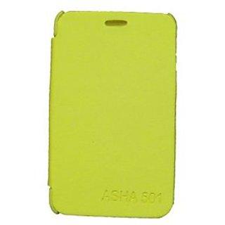 Casotec Premium Leather Flip Case Cover For Nokia Asha 501 - Yellow gz214329