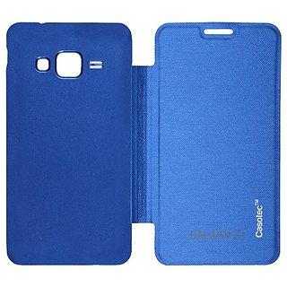 Casotec Premium Flip Case Cover For Samsung Galaxy Z1 - Ocean Blue gz267250