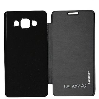 Casotec Premium Flip Case Cover For Samsung Galaxy A5 - Black gz267273