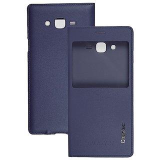 Casotec Premium Caller-Id Flip Case Cover Flip Case Cover For Samsung Galaxy J7 - Deep Blue gz267550