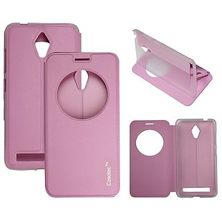 Casotec Premium Kickstand Caller-Id Flip Case Cover For Asus Zenfone 5 A500Cg - Pink gz267912