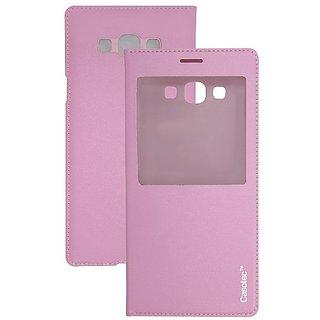 Casotec Premium Caller-Id Flip Case Cover For Samsung Galaxy A8 - Baby Pink gz267950