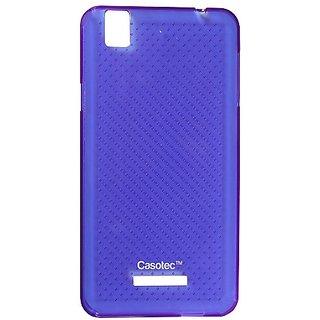 Casotec Soft Dotted Tpu Back Case Cover For Micromax Yu Yureka Aq5510 - Purple gz265714