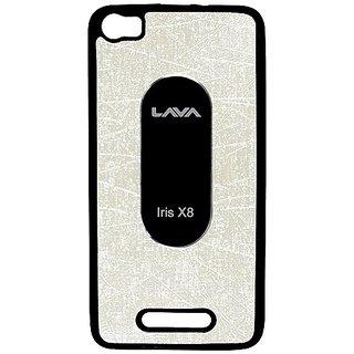 Casotec Metal Back Tpu Back Case Cover For Lava Iris X8 - White gz2650155