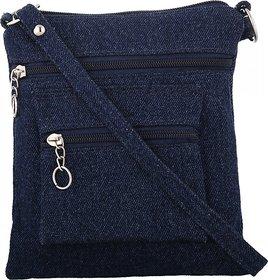 Exotique Womens Blue Sling Bag