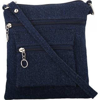 Exotique Womens Blue Sling Bag