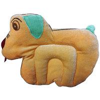Wonderkids Baby Mustard(Rai) Pillow Dog Shape Orange
