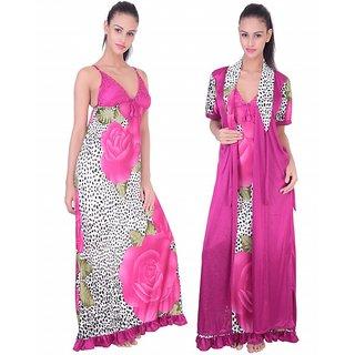 c5281da992957 Buy Fashion Zilla Marjenta Satin Designer Shoulderless Backless Nighty With Gown  Set Online   ₹799 from ShopClues