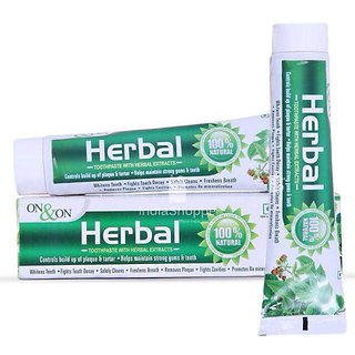 ON - ON Herbal Toothpaste 150 gms combo of 2