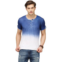 Campus Sutra Half Sleeve Royal Blue T-Shirt For Men