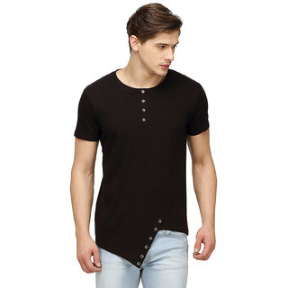455035a5f8 Buy Campus Sutra Half Sleeve Black T-Shirt For Men Online - Get 33% Off
