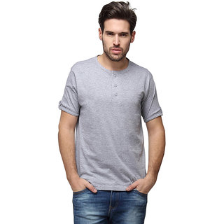90b9c92e18 Buy Campus Sutra Half Sleeve Grey T-Shirt For Men Online - Get 33% Off