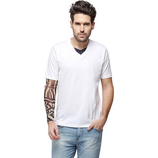 83198c74ae Buy Campus Sutra Half Sleeve White T-Shirt For Men Online - Get 33% Off