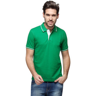 97c53f92ea Buy Campus Sutra Half Sleeve Green T-Shirt For Men Online - Get 33% Off