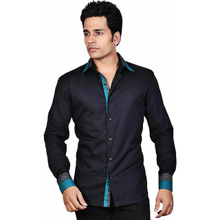Dazzio Men's Black Smart Casual Shirt - Option 3