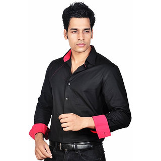 Dazzio Men's Black Lounge Wear Shirt - Option 3