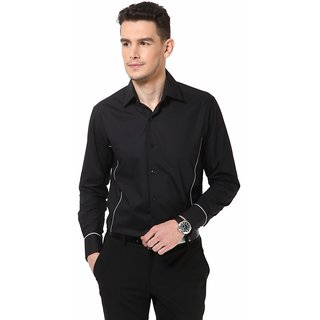 Dazzio Men's Black Smart Casual Shirt - Option 5