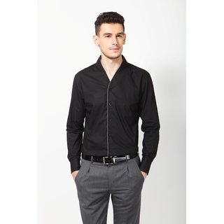Dazzio Men's Black Smart Casual Shirt - Option 6