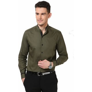 Dazzio Men's Khaki Smart Casual Shirt
