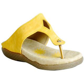 Casual Slipper in Yellow