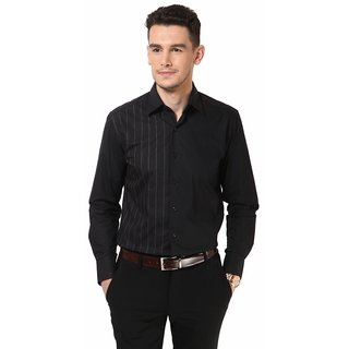 Dazzio Men's Black Club Wear Shirt