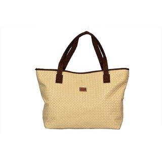 Designer, Imported PU Leather Shoulder  Hand Bag For Women Beige