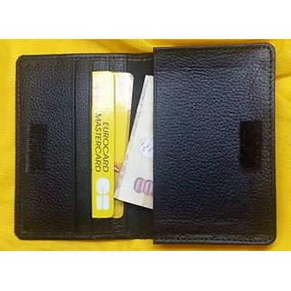 Genuine Leather Unisex Credit Card Holder from RaNa - Black Colour