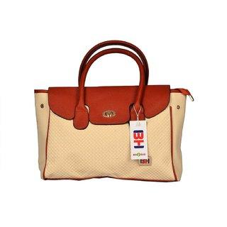 Imported PU Leather Shoulder  Hand Bag For Women Beige