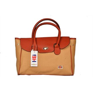 Imported PU Leather Shoulder  Hand Bag For Women Brown