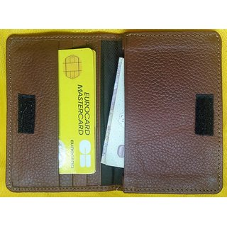 Genuine Leather Unisex Credit Card Holder from RaNa - Brown Colour