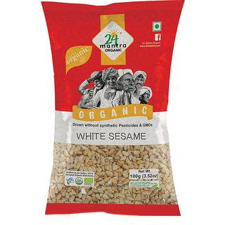 24 Mantra White Sesame 100 Gms (Pack Of 2)
