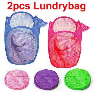 Laundry Bag , Basket , Clothes Storage Bags Hanger 2 pcs set