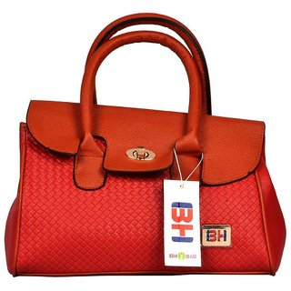 Imported PU Leather Shoulder  Hand Bag For Women Red