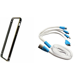 Technofirst Bumper Case for Samsung Galaxy Note 2 + 4 in 1 Highspeed Cable