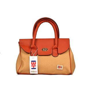 Imported PU Leather Shoulder  Hand Bag For Women Gold