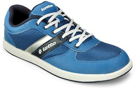Lotto Men's White & Blue Lace-Up Casual Shoes