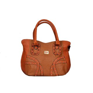Imported  Fashionable, New Arrival PU Leather Shoulder  Hand Bag For Women Brown