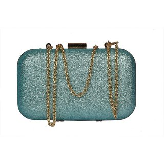 Women Light Blue Clutch Bag  Formal Office bag